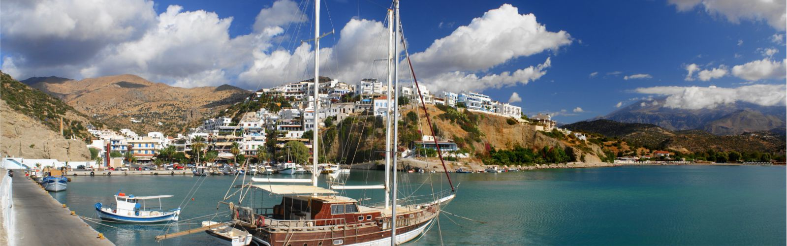 Panorama from the port of Agia Galini